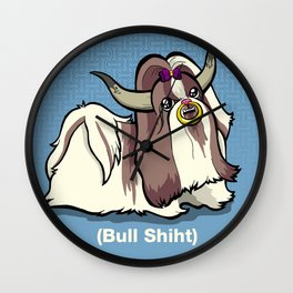 Bull Shiht Wall Clock