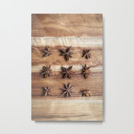 Stars and Stripes of Baking - Star Anise Metal Print