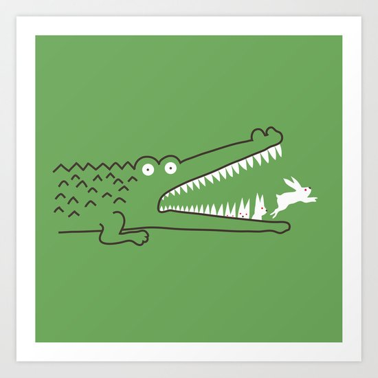 Mr. Croc's Nightmare Art Print