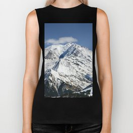 Mt. Blanc with clouds Biker Tank