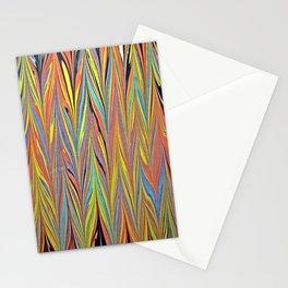 Herring Bone Water Marbling Stationery Cards