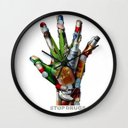 Stop Drugs Wall Clock