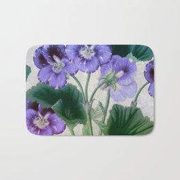 Purple Pansies Bath Mat