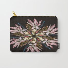 Flemish Floral Mandala Carry-All Pouch