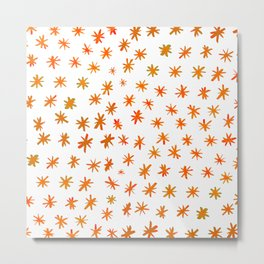 Watercolor stars - orange Metal Print