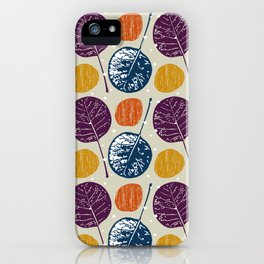 Leaves and yarns iPhone Case