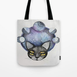 Double Vision Space Cats Tote Bag