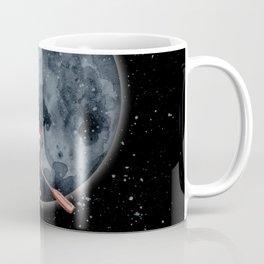 Sail to the Moon Watercolor Astronaut Art Print Coffee Mug