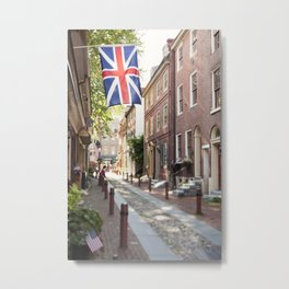 Elfreth's Alley - Old City Philadelphia Metal Print