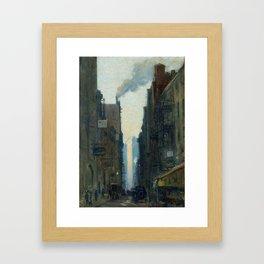 New York Street Scene - Ernest Lawson Framed Art Print
