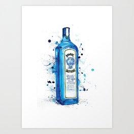 bombay sapphire dry gin bottle Art Print