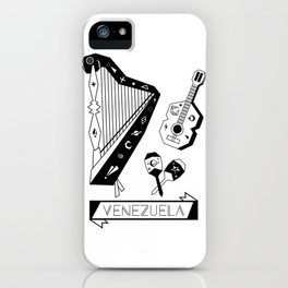 Venezuelan Tipical Music Instruments iPhone Case