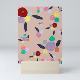 Pink Pop Blooms Mini Art Print