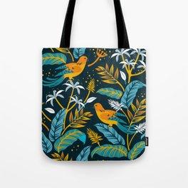 Birds in the night Tote Bag