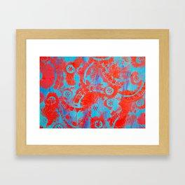 Red mandalas Framed Art Print