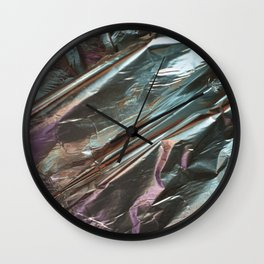Faux Metalic Foil Wall Clock