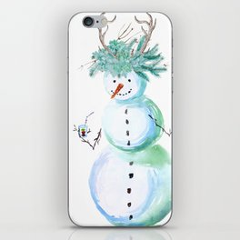 SNOWMAN PARTY ANIMAL iPhone Skin