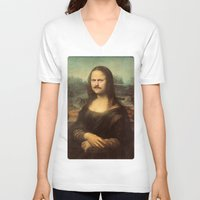 swanson V-neck T-shirts featuring Mona Swanson by RAOqwerty