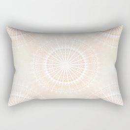 Beige Gold  Glittering Mandala Rectangular Pillow