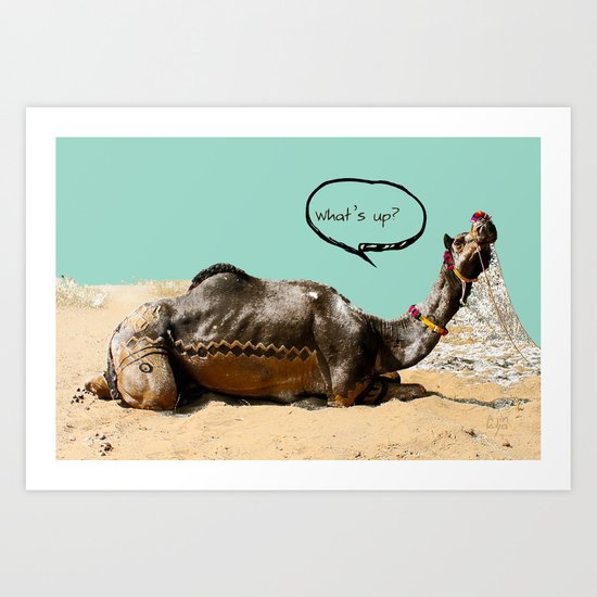 Pushkar fair chillout Art Print