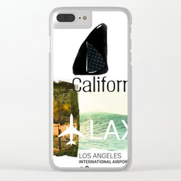 California. Lax. airport code. Surfing Clear iPhone Case