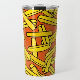 French Fries on Orange Travel Mug