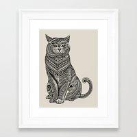 british Framed Art Prints featuring Polynesian British Shorthair cat by Huebucket