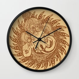 Ganesha Lineart Scroll Wall Clock