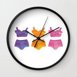 Bikinis Speak Louder Than Words Wall Clock