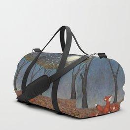 b87d615bd823 sleepy foxes Duffle Bag