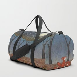 sleepy foxes Duffle Bag