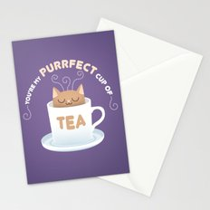 You're my Purrfect Cup of Tea Cat Stationery Cards