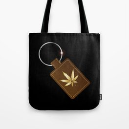Marijuana Key Fob Tote Bag