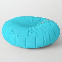 Blue Dachsund Love Floor Pillow