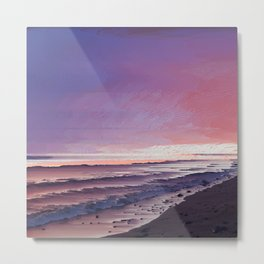 Maui Sunset Pixel Sort Metal Print