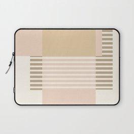 Marfa Abstract Geometric Print in Beige Laptop Sleeve
