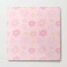 Sweet Pink Flowers Metal Print