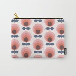 Mid century circle gradient flowers pattern on products Carry-All Pouch