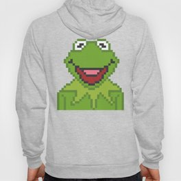 Kermit The Muppets Pixel Character Hoody