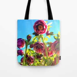 Bright Hellebores Tote Bag