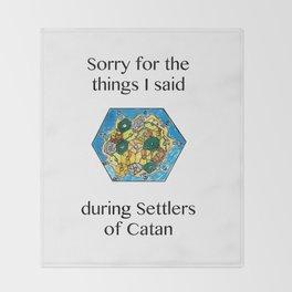 Catan, Settlers of Catan, Board Game, Geek Art, Nerd Art Throw Blanket