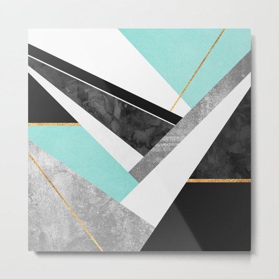 Lines & Layers 1.2 Metal Print