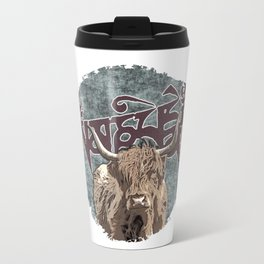 Tibetan Yak with Mani Mantra(six-syllabled Sanskrit mantra: OM MANI PADME HUM ) Travel Mug