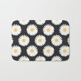 Spring Daisies_Black Bath Mat