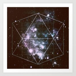 Galaxy Sacred Geometry dark Art Print
