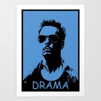 entourage Art Prints featuring Entourage - Johnny Drama by StriveArt