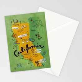 Postcard from California Stationery Cards