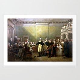 General Washington Resigning His Commission Art Print