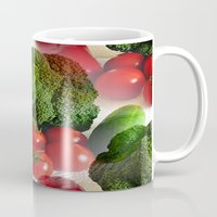 vegetables Mugs featuring Healthy Vegetables by Art-Motiva