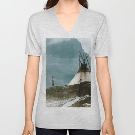Echoes Call - American Indian Camp Unisex V-Neck
